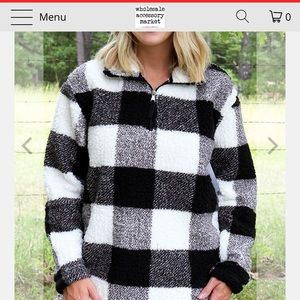 Buffalo Check Sherpa pullover!